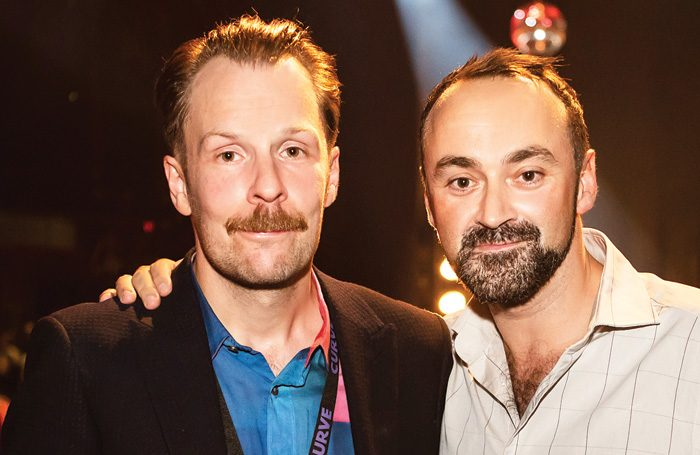 Curve artistic director Nikolai Foster and chief executive Chris Stafford