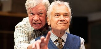 Matthew Kelly and David Yelland in The Habit of Art. Photo: Helen Maybanks