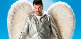 Peter Andre as Teen Angel in Grease. Photo: Hugo Glendinning