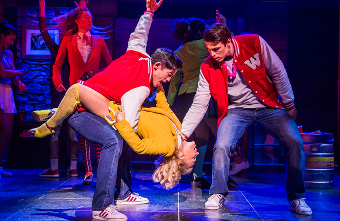 Chris Chung, Sophie Isaacs and Dominic Anderson in Heathers the Musical. Photo: Tristram Kenton