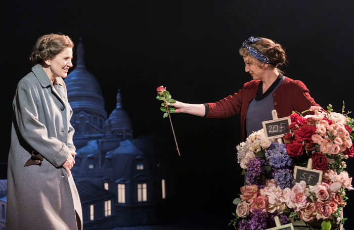 Clare Burt and Rhona McGregor in Flowers for Mrs Harris at Chichester Festival Theatre. Photo: Johan Persson
