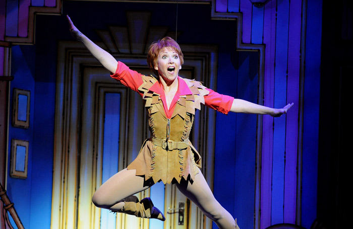 Langford in Peter Pan at Richmond Theatre in 2008. Photo: Tristram Kenton