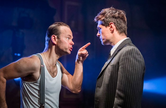 Sam Alexander and Sam Frenchum in The Outsider (L'Etranger) at Print Room at the Coronet. Photo: Tristram Kenton
