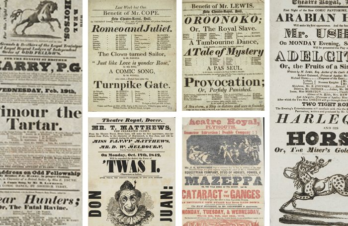 Playbills from the British Library collection