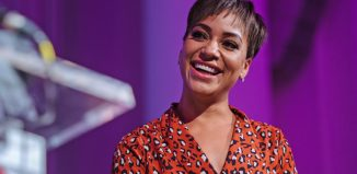 Cush Jumbo presenting The Stage Debut Awards. Photo: David Monteith-Hodge