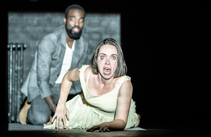 Paapa Essiedu and Kate O'Flynn in Pinter One. Photo: Marc Brenner