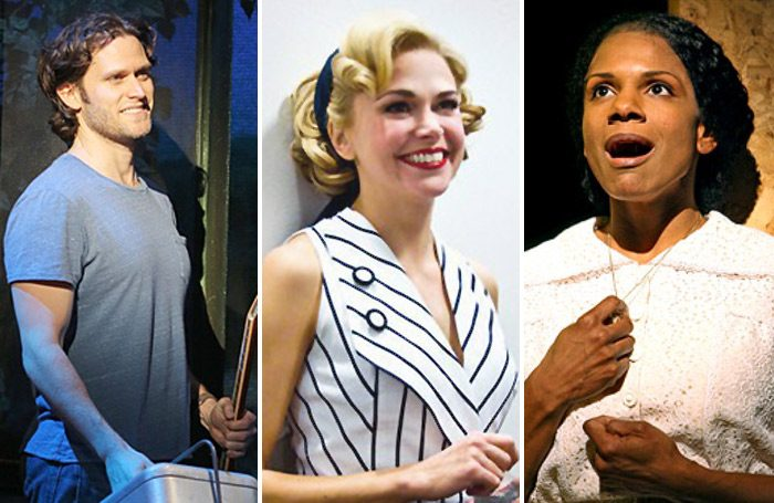 Steven Pasquale in The Bridges of Madison County, Sutton Foster in Anything Goes and Audra McDonald in 110 in the Shade. Photos: Joan Marcus/Monica Simoes