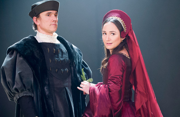 Ben Miles and Lydia Leonard in Wolf Hall at the Swan Theatre. Photo: Tristram Kenton