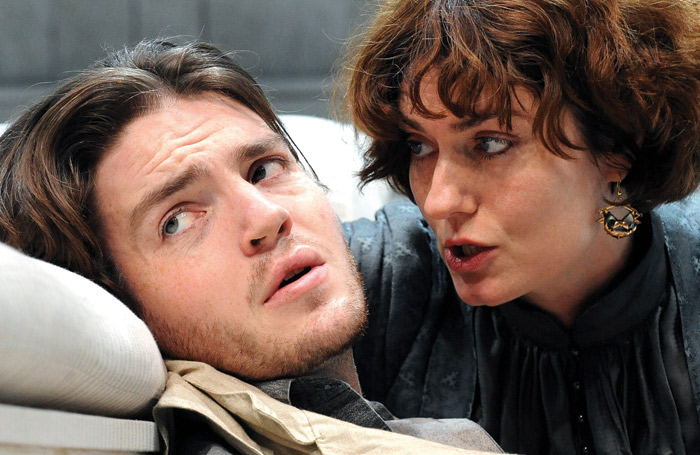 Tom Burke and Anna Chancellor in Creditors at the Donmar Warehouse. Photo: Tristram Kenton