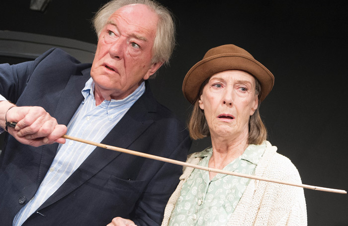 Michael Gambon and Atkins in All That Fall at Jermyn Street Theatre London (2012). Photo: Tristram Kenton