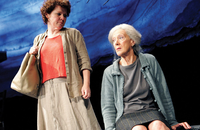 Imelda Staunton and Atkins in There Came A Gypsy Riding at the Almeida, London in 2007
