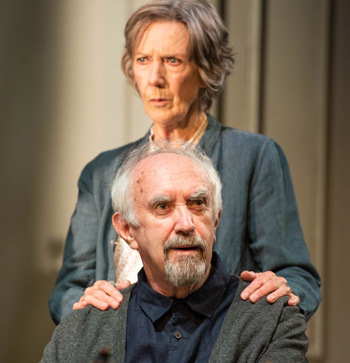 Atkins with Jonathan Pryce in The Height of the Storm. Photo: Hugo Glendinning