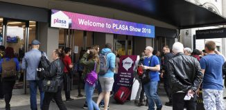 Outside the Plasa show at Olympia, London