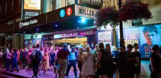 Crowds outside Trafalgar Studios, the main home of Trafalgar Entertainment Group