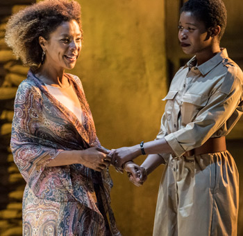 Sophie Okonedo and Gloria Obianyo in Antony and Cleopatra. Photo: Johan Persson
