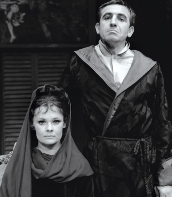 Judi Dench and Leonard Rossiter in The Rules (1966). Photo: Studio Edmark