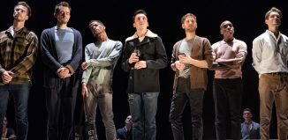 The cast of The Inheritance at the Noel Coward Theatre. Photo: Marc Brenner