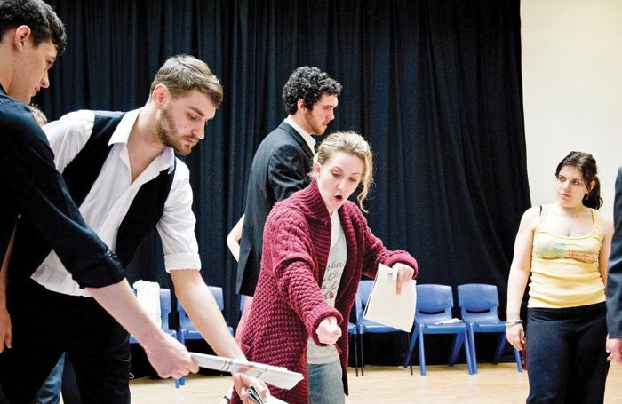 Students rehearsing at LIPA. Photo: Peter Carr