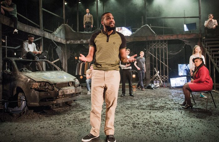 Rose Bruford College's production of The Riots at Stratford Circus in 2017. Photo: Robert Workman