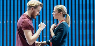 Jack Lowden and Hayley Atwell in Measure for Measure