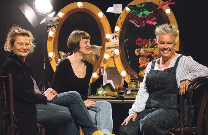 Judith Dimant, Poppy Keeling and Emma Rice. Photo: Steve Tanner