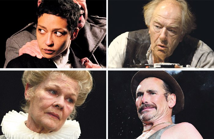 Clockwise from top left: Ruth Negga in Hamlet/Michael Gambon in Krapp's Last Tape/Mark Rylance in Jerusalem and Judi Dench in Alls Well that Ends Well. Photos: Ros Kavanagh/Anthony WoodTristram Kenton