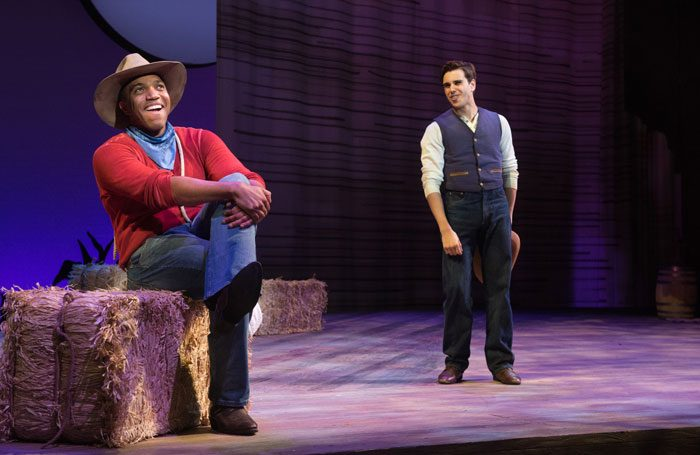 Will Parker and Ado Andy in the Oregon Shakespeare Festival production of Oklahoma!. Photo: Jenny Graham