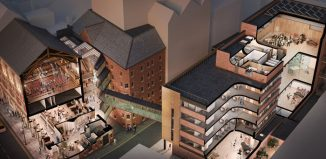 Artist's impression of Opera North's site post-refurbishment. Image: Enjoy Design