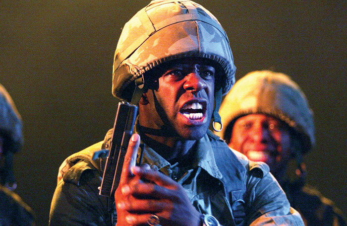 Adrian Lester in Henry V, which opened the Travelex £10 season at the National Theatre in 2003