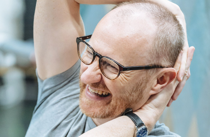 Mark Gatiss in rehearsal for The Madness of George III. Photo: Nottingham Playhouse