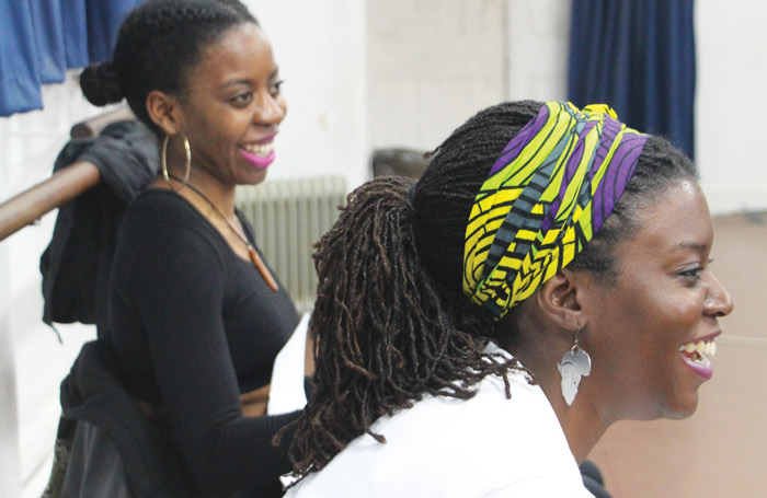 Lakesha Arie-Angelo and Ifeyinwa Frederick in rehearsals for The Hoes. Photo: Hampstead Theatre