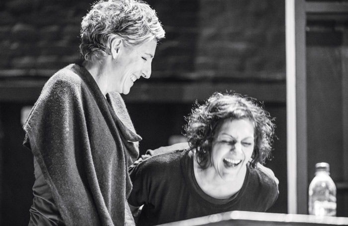 Tamsin Greig and Meera Syal in rehearsals. Photo: Marc Brenner