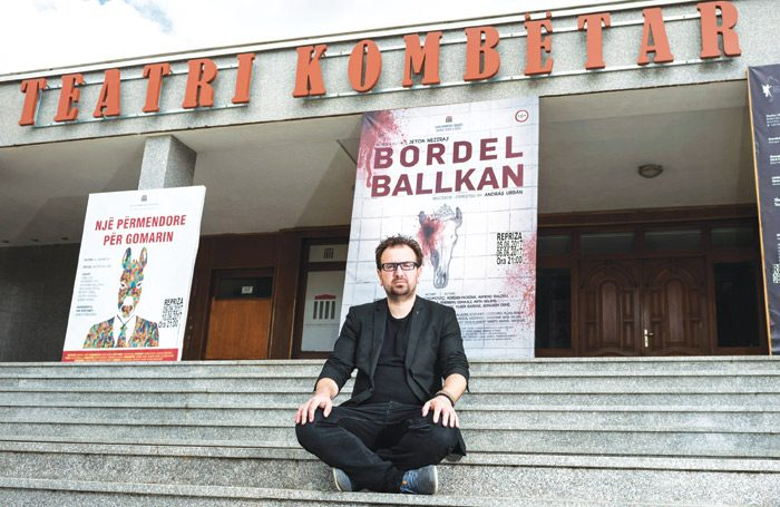 Jeton Neziraj at the National Theatre of Kosovo. Photo: Slavica
