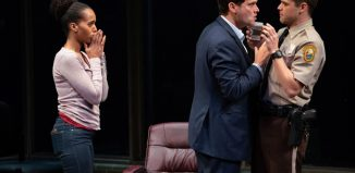 Kerry Washington, Steven Pasquale and Jeremy Jordan in American Son at Booth Theatre, New York. Photo: Peter Cunningham
