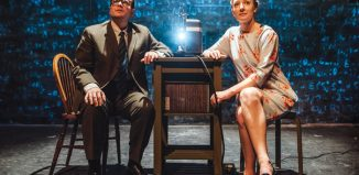 Richard Delaney and Stelle Taylor in Secret Life of Humans at Pleasance Courtyard, Edinburgh. Photo: David Monteith Hodge