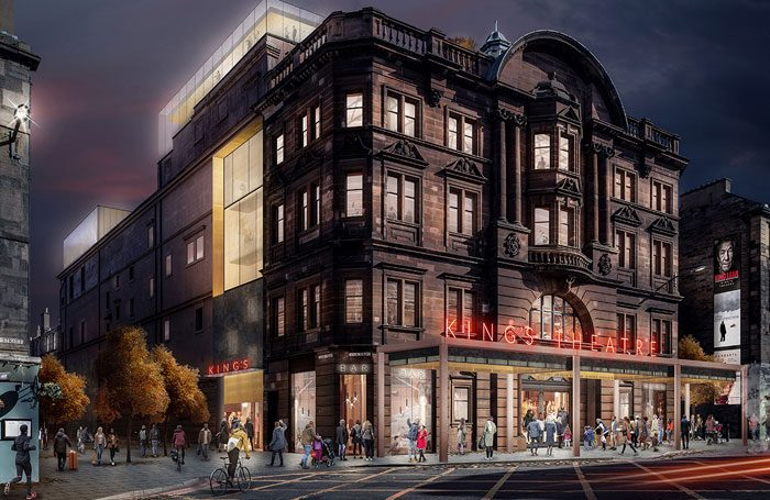 Artist's impression of how the front of the King's Theatre in Edinburgh will appear after its refurbishment. Photo: Bennetts Associates