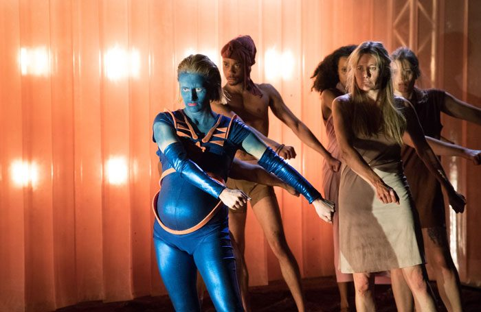 Scene from Future Bodies by RashDash and Unlimited, which was performed at the Manchester Science Festival in October 2018. Photo: Jonathan Keenan