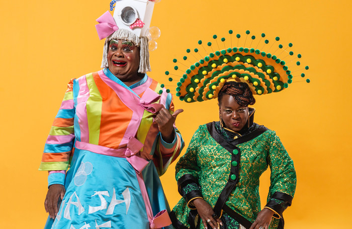 Clive Rowe and Tameka-Empson in Hackney Empire's Aladdin. Photo: Mr Perou