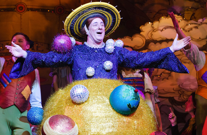 Kaler's solar system costume from Jack and the Beanstalk in 2010. Photo: Karl Andre