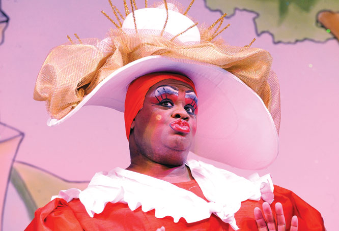 Rowe in Mother Goose at the Hackney Empire in 2008. Photo: Tristram Kenton