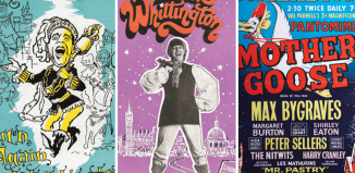 A selection of posters from London Palladium pantomimes from the 1950s and 1960s