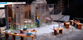 Soutra Gilmour's model box for National Theatre's Antigone in 2012. Photo: James Bellorini