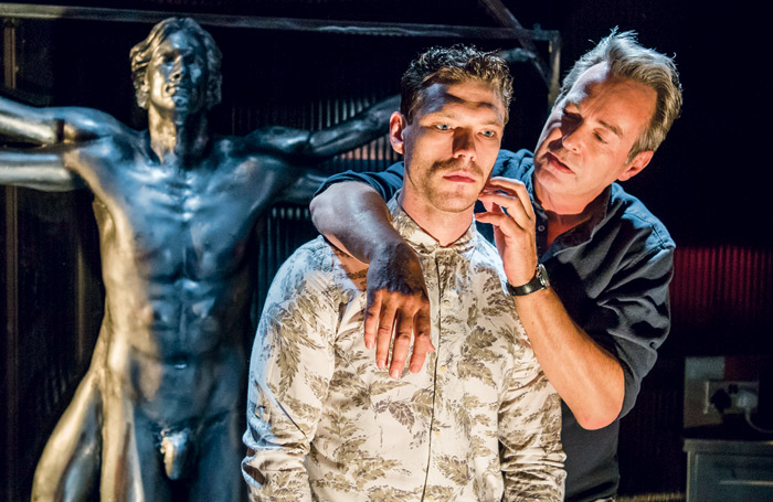 James Nelson-Joyce and Julian Clary in Le Grand Mort at London's Trafalgar Studios in 2017. Photo: Tristram Kenton