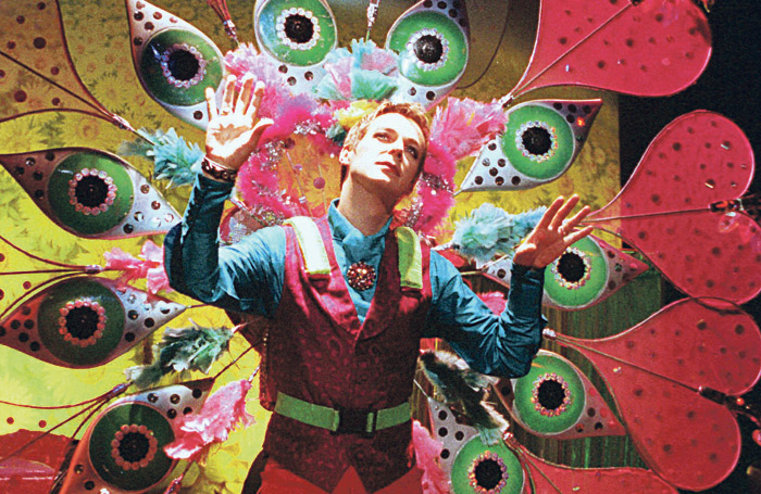 Julian Clary in his comedy show at London's Vaudeville Theatre in 1997. Photo: Tristram Kenton