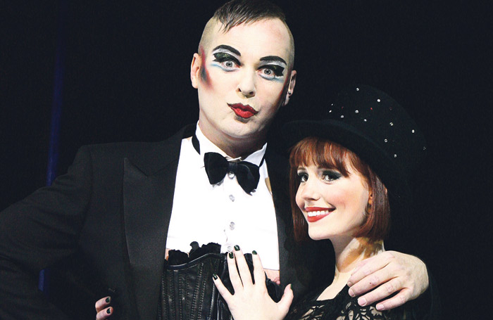 Julian Clary and Amy Nuttall in Cabaret at London's Apollo Theatre in 2007. Photo: Tristram Kenton