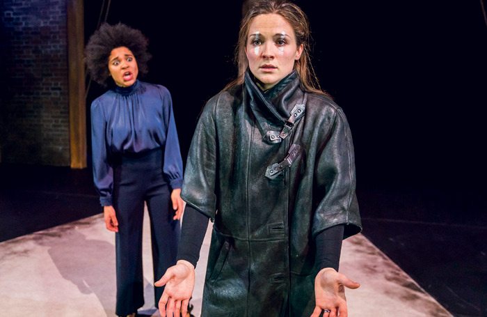 Isabel Adomakoh Young as Lady Macbeth and Olivia Dowd as Macbeth in the National Youth Theatre's Macbeth at the Garrick Theatre in London. Photo: Tristram Kenton