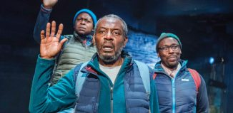 Cast of Black Men Walking at the Royal Exchange Manchester. Photo: Tristram Kenton