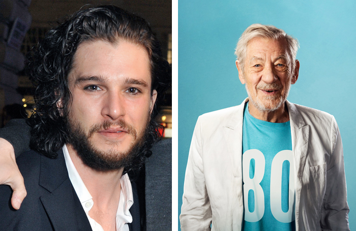 Kit Harington and Ian McKellen. Photo: Oliver Rosser/Feast Creative