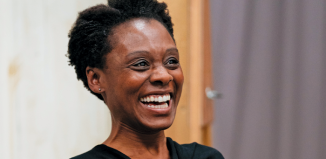 Natasha Gordon in rehearsals for Nine Night. Photo: Helen Murray