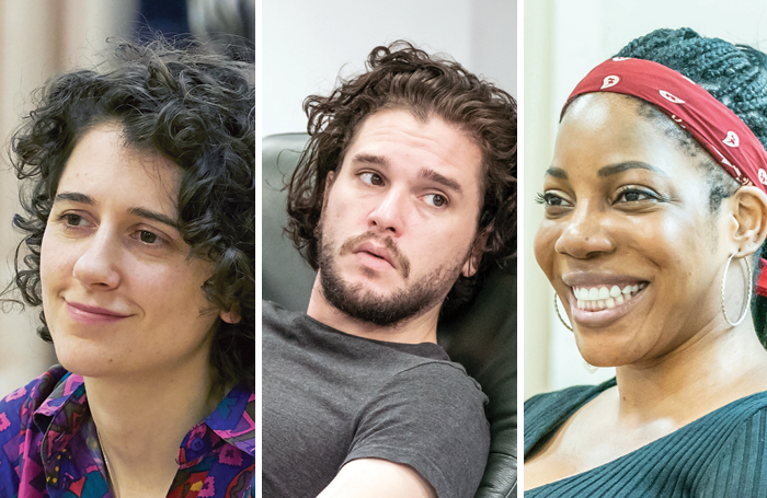 Ellie Kendrick, Kit Harington and Jocelyn Jee Esien. Photos: Marc Brenner/The Other Richard